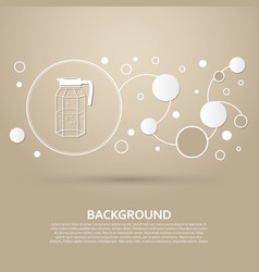 Decanter icon on a brown background with elegant vector