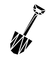 diamond shovel icon simple style vector image