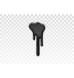 drip paint 3d ink stain drop melt liquid vector image