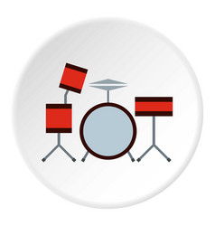 Drums icon circle vector