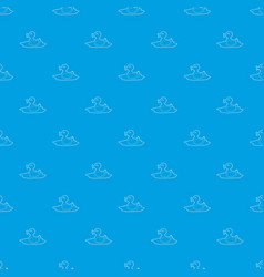 duck pattern seamless blue vector image