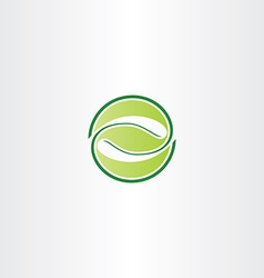 eco green circle leaf letter z symbol logo icon vector image
