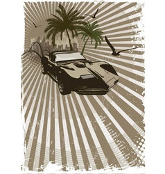 exotic car vector image