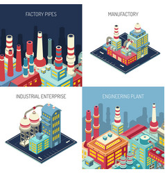 factory isometric design concept vector image