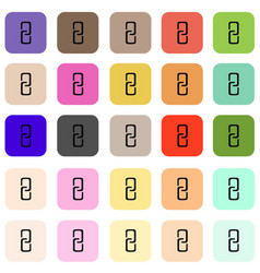flat buttons with internet icons set vector image