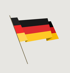 Flat style waving germany flag vector
