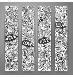 Graphics hand-drawn Love and Valentines vector