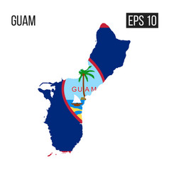 Guam map border with flag eps10 vector