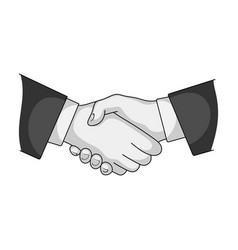 handshakerealtor single icon in monochrome style vector image