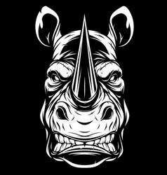 head a ferocious rhino vector image
