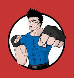 Icon martial arts vector