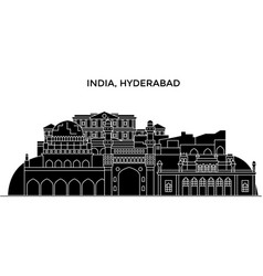 India hyderabad architecture urban skyline vector