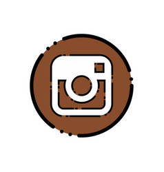 instagram icon design vector image