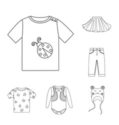 Isolated object wear and child sign collection vector