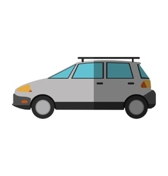 Isolated white car design vector