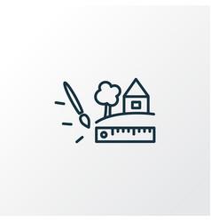 landscape design icon line symbol premium quality vector image