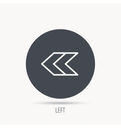 Left arrow icon Previous sign vector