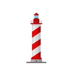 Lighthouse with a spiral pad and a caretaker vector
