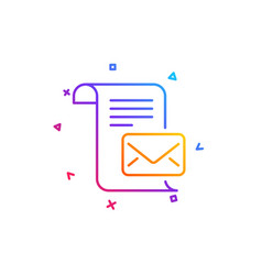 Mail letter line icon read message correspondence vector