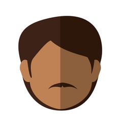 Man faceless head vector