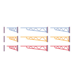 manual swing gate barrier set vector image