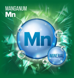 mn manganum mineral blue pill icon vector image