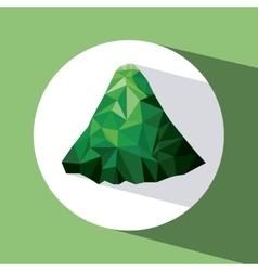 Mountainous terrain design vector
