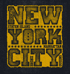 new york city typography graphics vector image