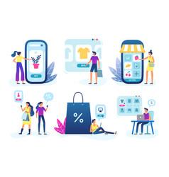 online shop web store business customer goods vector image
