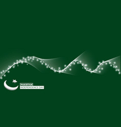 Pakistan independence day design with little vector