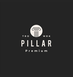Pillar law hipster vintage logo icon vector
