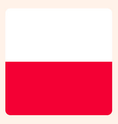 poland square flag button social media vector image