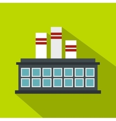 Refinery plant icon flat style vector