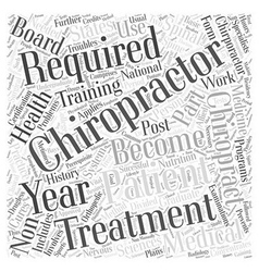 Requirements to become a chiropractor word cloud vector