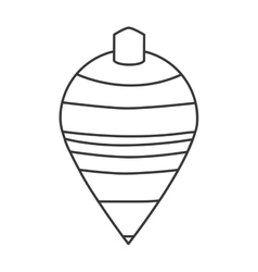 Spinning top toy vector