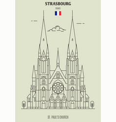 st pauls church of strasbourg vector image