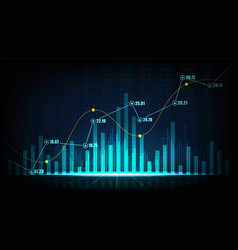 Stock market or forex trading graph in graphic vector