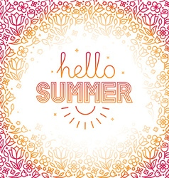 summer background in trendy linear style vector image