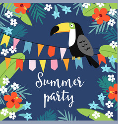 Summer party greeting card invitation vector