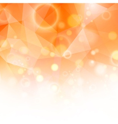 Sunny Orange Background vector image