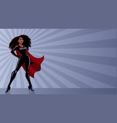 superheroine black ray light vector image