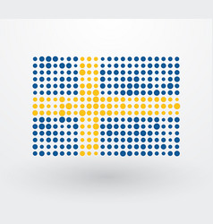 swedish flag made up of dots vector image