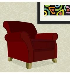 Velvet armchair vector