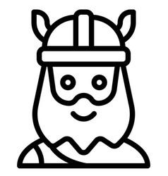 Viking avatar halloween costume icon vector