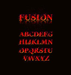 vintage inline condensed alphabet vector image