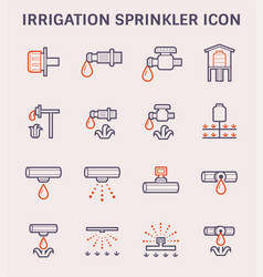 water sprinkler icon vector image