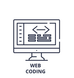 web coding line icon concept web coding vector image