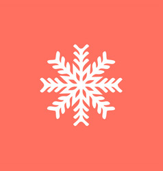 white snowflake on a red background snowflake vector image