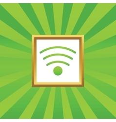 Wi-Fi picture icon vector