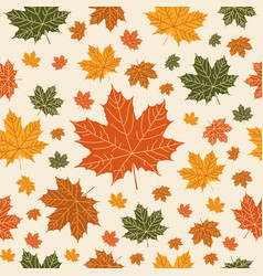 autumnal seamless pattern on beige background vector image vector image
